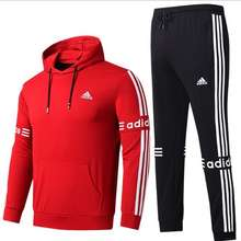 adidas 2 Pieces Athletic Tracksuit Pullover Hoodie And Jogger Pants For Men & Women