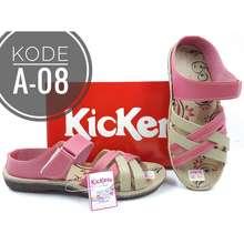 Kickers Sandal Anak Flat Selop Slip On Bahan Sintetis Kode A-08