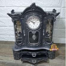 Elegant Kotak Perhiasan Motif Kayu Kotak Musik W- Jam Pendulum Jumbo