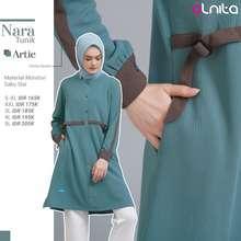 Alnita Atasan Nara Bahan Mondovi Tunik Wanita Muslimah Baju Atasan Simple Elegant
