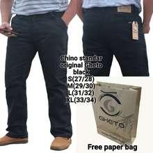 IMPRESIF Celana Chino pria premium (hitam)