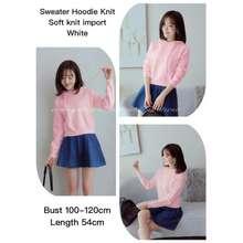 DC - Sweater Hoodie Knit Import / Jaket Wanita / Sweater Wanita / Hoodie / Atasan Rajut Wanita / Baju Import