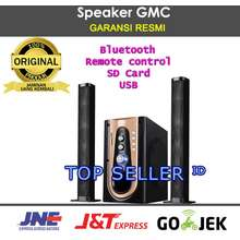 GMC Speaker 886P bluetooth Speker Super Woofer Bass Bost SD Card USB Remote Portable Original