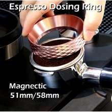Espresso Dosing Funnel 51/58 Mm. Espresso Magnetic Dosing Ring. Espresso Alloy Dosing Ring