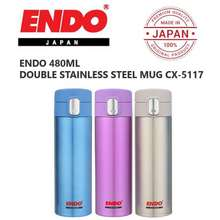 Endo Japan New Double Stainless Steel Vacuumised Bottle / 480Ml / Cx-5117
