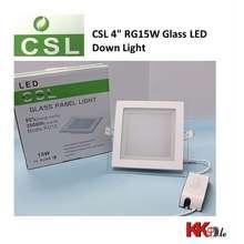 "CSL 4"" 15W Glass Panel Light Led Downlight - Square & Round"