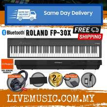 Roland Fp-30X *New Model* 88-Key Digital Piano W/Rh5 Headphone And Adapter - Black (Fp30X/Rh-5) Replace For Fp-30/Fp30