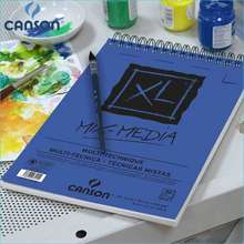 CANSON 16K Xl Mix Media Pad Drawing Paper Watercolor Gouache And Acrylic Sketching Spiral Bound Medium Grain 300G 25 Sheets