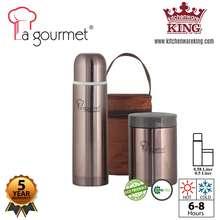 La gourmet Gift Set Thermal Flask (0.5L) + Thermal Food Jar (0.58L)
