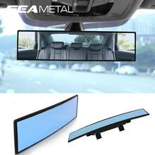 Seametal 30cm HD Car Rear View Mirror Wide-angle Panoramic Reverse Back Parking Reference