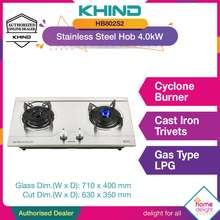 Khind Hb802s Stainless Steel Hob