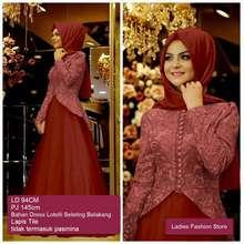 Ladies Fashion Dress Muslimah Panjang   Gaun Gamis Modern   Dress Gamis  Wanita Murah   Gamis 9a01524a00