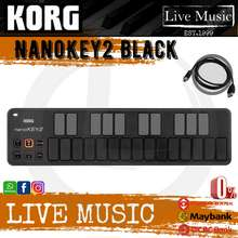 KORG Nanokey2 - Midi Controller Slim Line Usb Keyboard, Black (Nano Key2/Nanokey2)