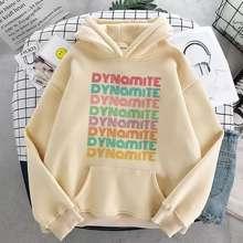 BTS Dynamite Sweater Hoodie Wanita Jaket Hoodie Kpop Korean Hoodie Crem