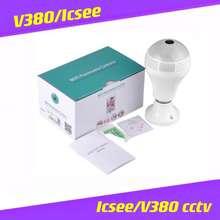 V380 Ak Light Camera 360°Panoramic Wireless Ip Camera Bulb Cctv Wifi Home Security Camera Cctv Icsee