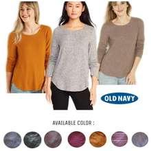 Old Navy Atasan Kaos Lengan Panjang Hijab / Relaxed Plush-Knit Tee For Women