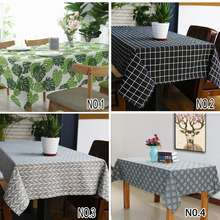 IKEA Cotton Linen Table Cloth Tablecloth Dustproof Cover Mat Home Decoration Ikea Style