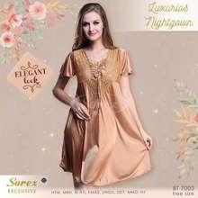 Sorex Baju Tidur Gaun Satin 7003 - Exclusive Luxurios Nightgown