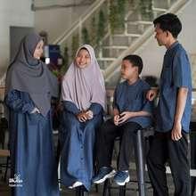 Hijab Alila Gamis Dan Kemeja Denim Kids