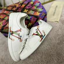 Louis Vuitton 【Cod】Genuine Lv Time Out Sneakers Genuine Leather Shoes For Women And Men