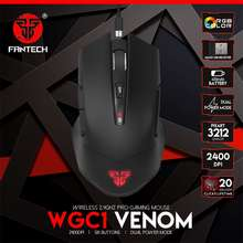 Fantech Wgc1 Wireless Mouse Charging Design Rgb And 2400Dpi Adjustable Gaming Mouse Pixart 3212 Game