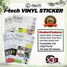 Itech I-Tech Vinyl Sticker Waterproof A4 Glossy/ Matte/ Transparent