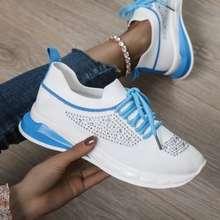 Avanti Rhinestone Lace Up Sneakers