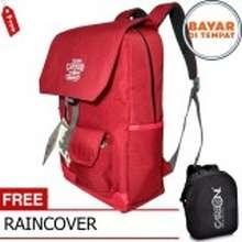 Carboni Backpack Outdoor Waterproop Tas Ransel RA00049 40L Semi Tas Gunung - Red + Raincover