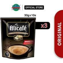 Alicafe [Free 5 Sachets][3 Packs] Tongkat Ali & Ginseng Original (30Gm X 10Pcs)