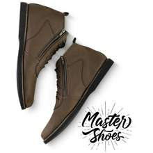 Infinity Cod - / Master Shoes - Sepatu Pria - Boots - Zipper - Black Brown 39 40 41 42 43