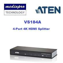 Aten Vs184A 4-Port 4K Hdmi Splitter - Supports Up To 340Mhz Bandwidth , (3D, Deep Color, 4Kx2K); Hdcp 1.4 Compliant
