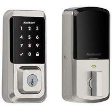 Iron Black Kwikset 99420-003 Aura Bluetooth Programmable Keypad Door Lock Deadbolt Featuring SmartKey Security