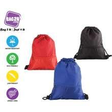 Bag2U【Hot】Sports Bag Drawstring Bag Super Light Weight Shoe Bag Travel Bag Men Women Unisex + 3 Colour Variant