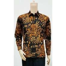Solo kemeja lengan panjang batik sogan - baju batik pria - batik aa49959211