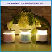 led Mini stretching lamp telescopic rechargeable portable night light - lampu tidur - lampu meja