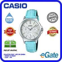 Casio LTP-V300L-2A Ladies Analog Chronograph Casual Blue Leather Original Watch