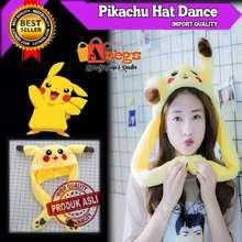 Panda Topi Lucu Pikachu Hat Bunny Dance