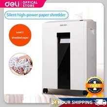 Deli Paper Shredder 9952 Light Gray (Automatic)