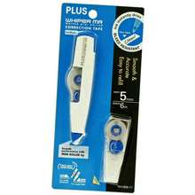 PLUS Correction Tape Whiper Mini Roller Refillable 5mm x 6m FREE 1 Refill (WH-605-11)