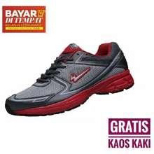 Eagle Rush Running Sepatu Olahraga Lari - Grey/Red