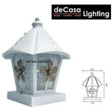 DECASA OUTDOOR PILLAR LAMP WEATHER PROOF LIGHTING LAMPU PAGAR WHITE OUTDOOR PILLAR LIGHT OUTDOOR LIGHTING (G8163-WH-S)