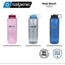 Nalgene 💥 Ready Stock - Cosmo & Slate Blue💥 Made In Usa 🇺🇸 💥 Hdpe 48Oz Silo Wide Mouth Bpa-Free Water Bottle