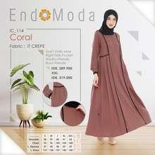 Endomoda Dress Ic 114 - Gamis Pakaian Wanita Muslimah
