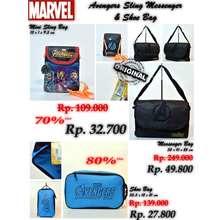 Marvel Tas Selempang Anak Karakter Avenger Sling Messenger Shoe Bag