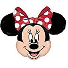 """Minnie Mouse Street Treats 34"""" Minnie Mouse Shaped Foil Balloon With Red Bow"""