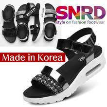 9b2b0ce5be2 SNRD Made in Korea Spring Women Comfortable Cushion Sandals Synthetic  leather sandals