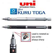 UNI Kuru Toga Roulette Model Mechanical Pencil 0.5mm Auto Lead Rotation (Silver)