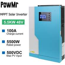 Y-SOLAR 5500W 48VDC 100A MPPT Hybrid inversor inverter Rated power 5.5KVA/5.5KW WITH Off Grid PV 500vdc 6000W without Battery Work