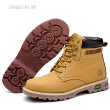 Timberland New Genuine Leather Men Steel Toe Cap Boots Work Safety Boots Safety Shoes Malaysia