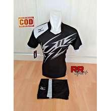 Jersey Baju Kaos Olahraga Bola Setelan Futsal Volley Mz 22 Hitam abu